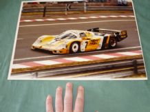 PORSCHE 962 NEW MAN Le Mans 1985 LARGE original photo